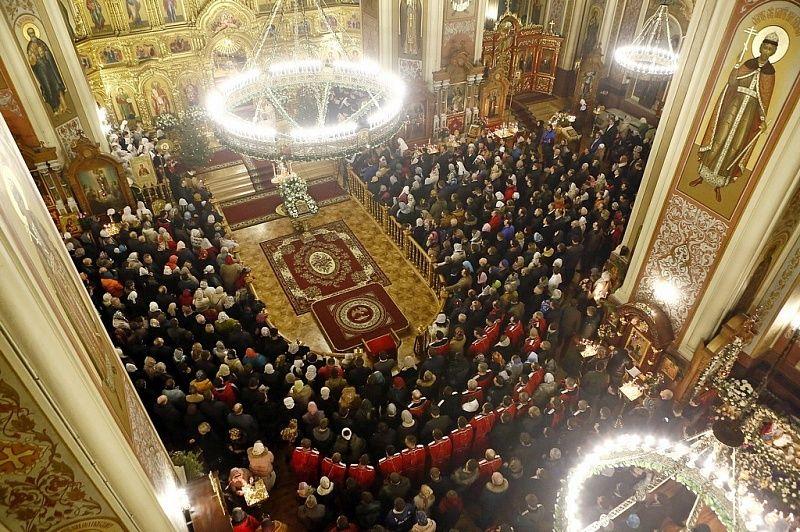 Торжественное богослужение в монастыре Рождества Христова вКраснодаре