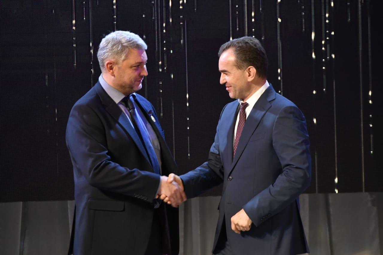 Вениамин Кондратьев поздравил сотрудников телеканала «Кубань 24» с 20-летним юбилеем
