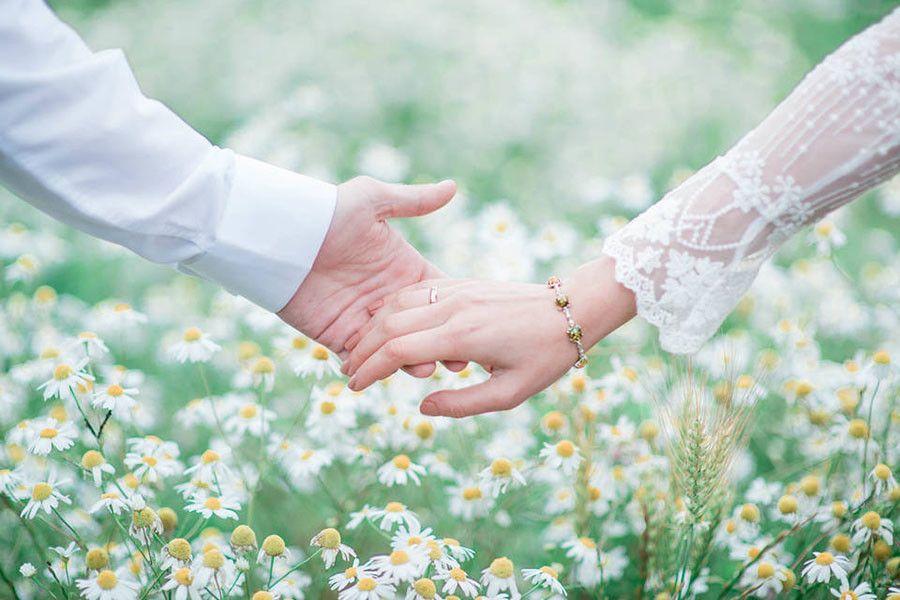 Открытка с днем свадьбы с ромашками, бечевка свадебные приглашения