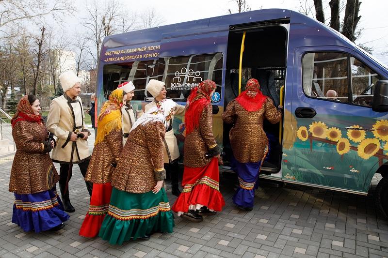 Фонд «Вольное Дело» подарил Краснодарскому институту культуры автобус ГАЗель NEXT