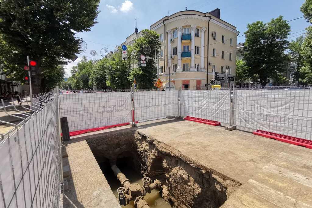 В Краснодаре начался второй этап замены устаревших сетей по улице Красной