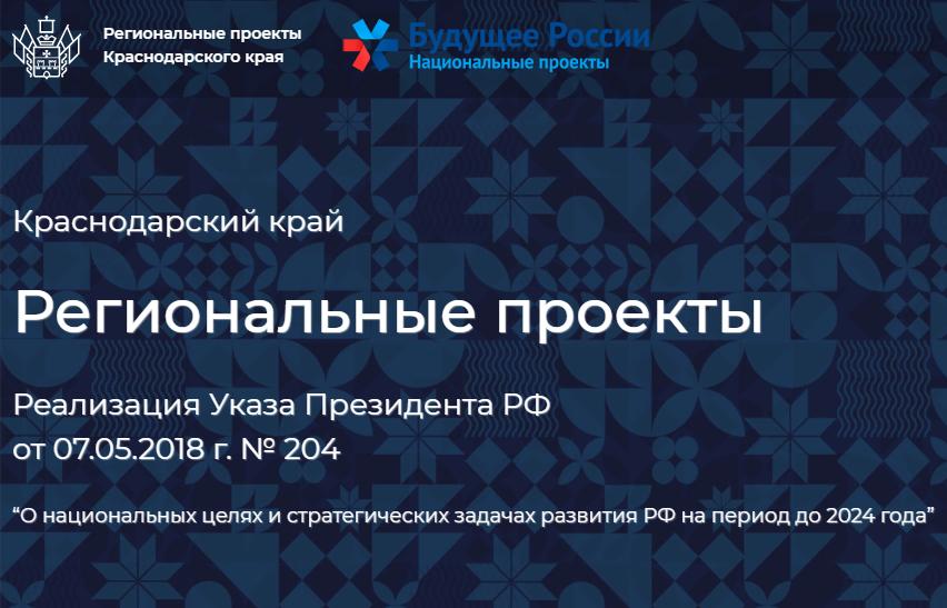 Картинки по запросу региональные проекты краснодарского края