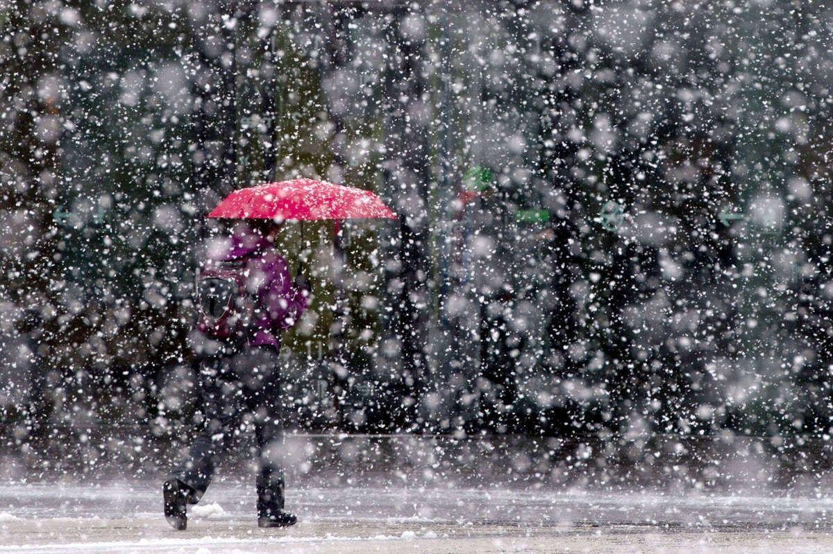 Картинки идет снег и дождь
