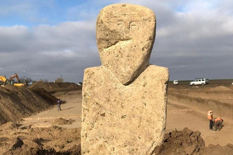 В Темрюкском районе археологи нашли древнетюркское изваяние VII–VIII веков нашей эры