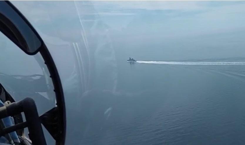 Русские военные открыли огонь из-за английского эсминца