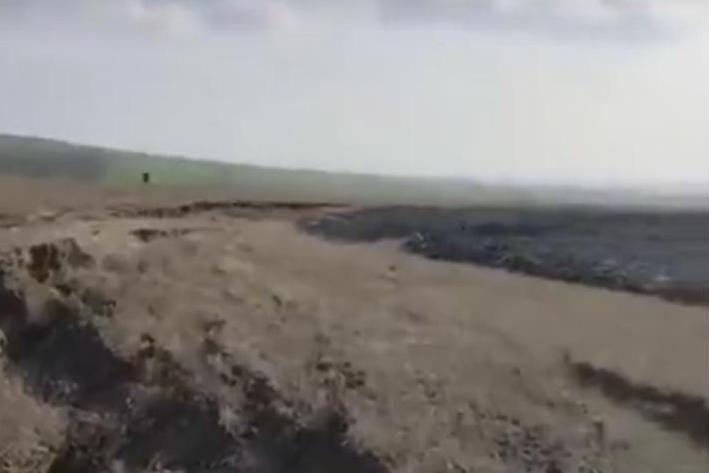 Рядом сТемрюком случилось  извержение грязевого вулкана