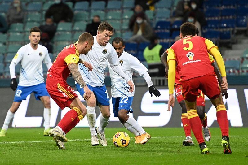 ФК «Сочи» обыграл тульский «Арсенал» со счетом 4:0