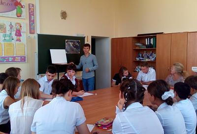 Краснодарские художники провели мастер-класс в коррекционной школе
