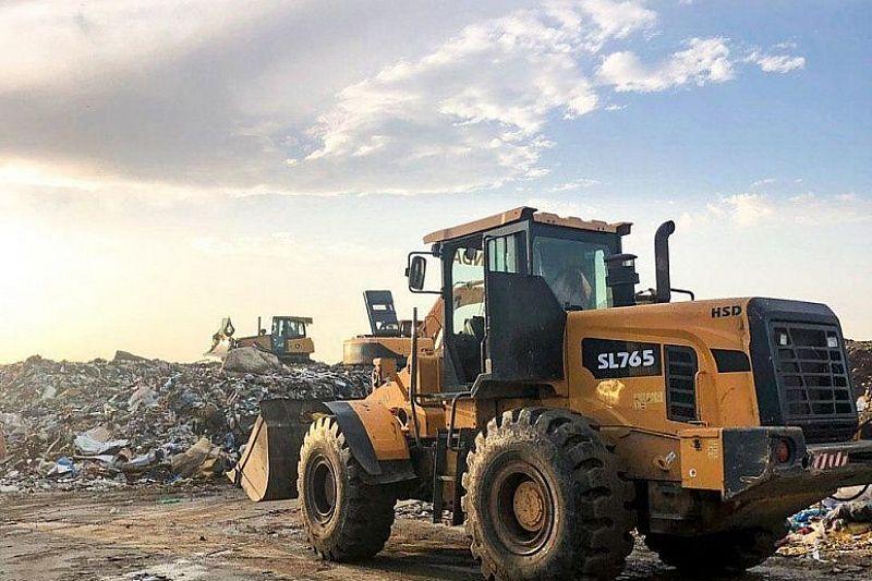 Власти продолжают контролировать соблюдение технологического процесса на мусорном полигоне