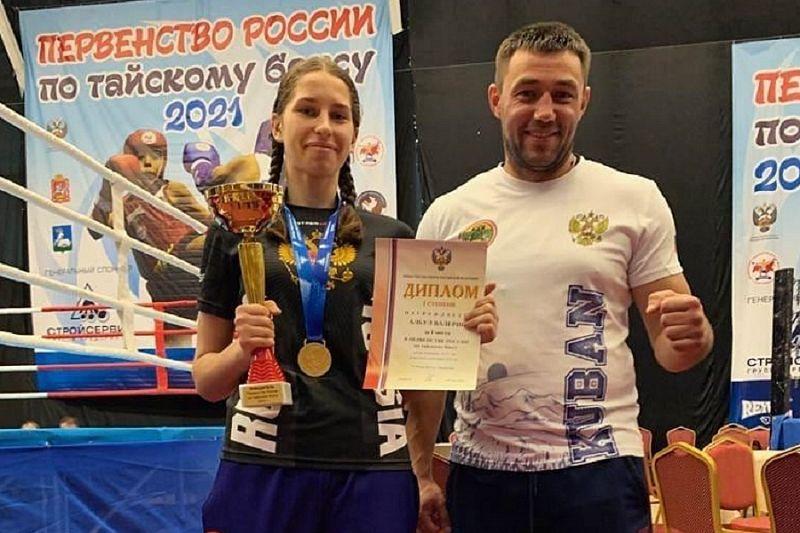 «Золото» первенства России по тайскому боксу завоевала спортсменка из Тимашевска