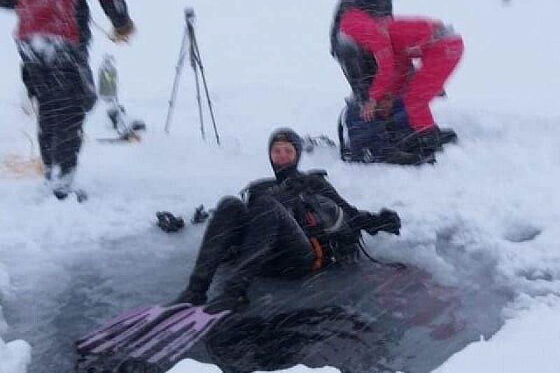 Дайверы установили мировой рекорд по высокогорному подледному погружению