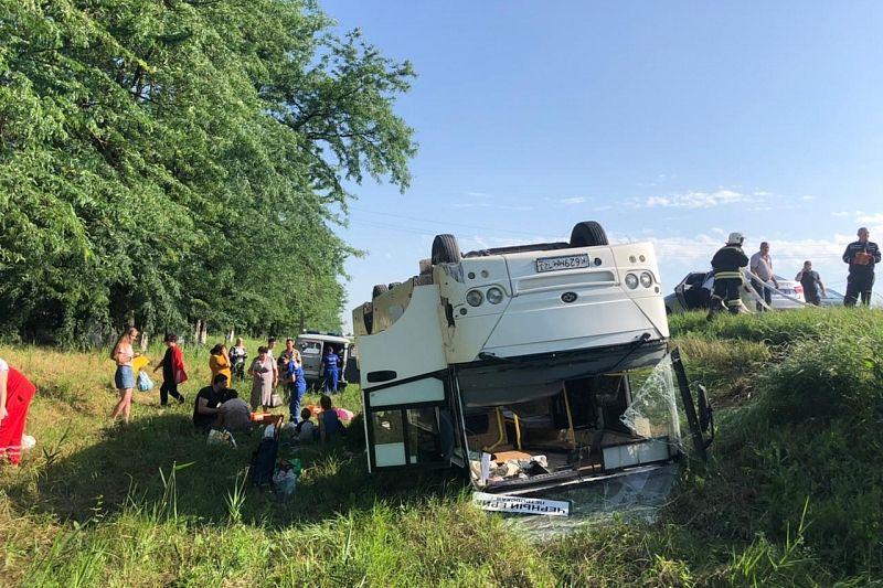 Количество пострадавших в ДТП с автобусом в Краснодарском крае увеличилось до 14, трое из них дети
