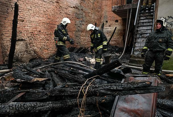 Пожар в центре Краснодара потушен
