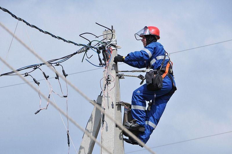В Краснодарском крае восстановили поврежденные из-за непогоды объекты электроснабжения