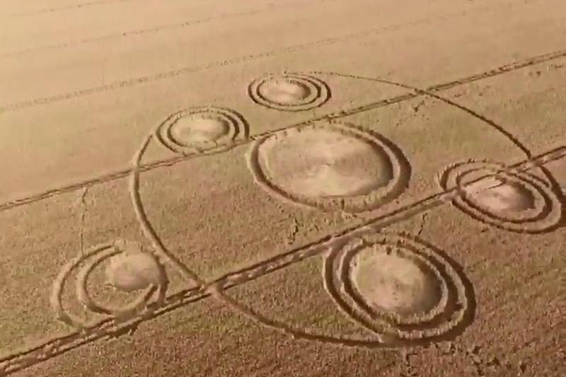 В Краснодарском крае вновь появились таинственные круги на полях